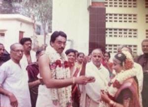 At the Kasi Yatri, Mama is standing behind me.